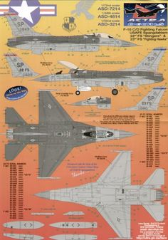 Numbers included to make most squadron aircraft F 16, Cutaway, Planes, Numbers, Decals, Aircraft, Airplanes, Tags, Aviation