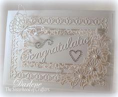 Dar's Crafty Creations: The Sisterhood of Crafters - White on White