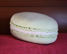 macaron - cuscino biscotto in pile a forma di macaron