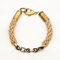 Braided Bullet Casting Bracelet now featured on Fab.