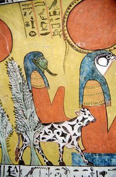 Schildering in de tombe van Sennedjem