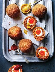 Homemade Scotch eggs are in a different league from shop-bought – and Dead Edwards's scorching chorizo Scotch egg recipe has to make the best we've ever tasted. Deep fry and serve immediately with ketchup and mustard. Delicious!