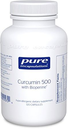 Pure Encapsulations Curcumin 500 with Bioperine Hypoallergenic Curcumin Complex with Bioperine 120 Vegetable Capsules ** Continue to the product at the image link. Niacin Flush, Pure Encapsulations, Branch Chain Amino Acids, Stop Acid Reflux, Muscle Function, Turmeric Curcumin, Best Supplements, Liver Detox, Healthy Tips