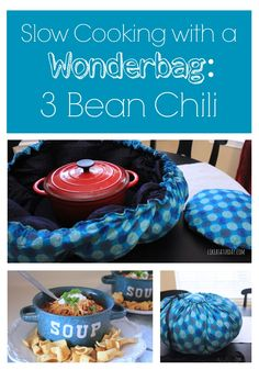Cooking with Wonderbag - 3 Bean Chili Recipe 3 Bean Chili Recipe, No Bean Chili, Chili Recipes, Yummy Recipes, Crock Pot Freezer, Crock Pot Slow Cooker, Thermal Cooking, Healthy Chips, Chili Soup