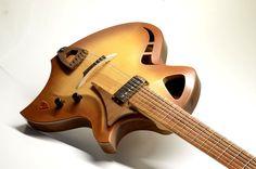 Risultati immagini per how to custom finish a guitar acoustic Guitar Notes, Guitar Pics, Jazz Guitar, Guitar Art, Cool Guitar, Banjo, Bass Ukulele, Custom Bass Guitar, Custom Guitars