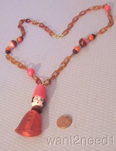 20s/30s vtg FRENCH THIMBLE HAT FLAPPER GIRL NECKLACE TESTED BAKELITE & CELLULOID  | eBay