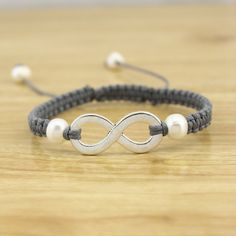 ETS-B372 -- Aobei Pearl Handmade Bracelet with Freshwater Pearl & Wax Rope for Women.