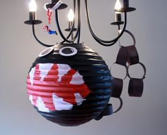 "Paper Lantern ""Chain Chomp"" and other cute Mario birthday Party ideas!"