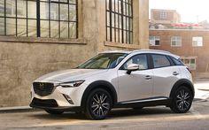 Descargar fondos de pantalla Mazda CX-3, 2018 autos, crossovers, blanco CX-3, los coches japoneses, Mazda
