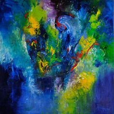 Going Deeper, oil on canvas, 40x40x2.5 inches, SOLD #abstract #OilPainting