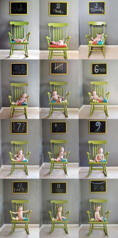 Foto baby mês a mês