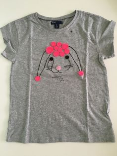 Nwot Gap Kids Girls Gray Short Sleeve Top size M (8) %100 Cotton #GapKids #Everyday