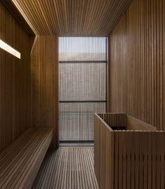 Marcio Kogan's Casa Lee Concrete House- sauna Saunas, Sauna Steam Room, Sauna Room, Design Sauna, Sauna A Vapor, Private Sauna, Sauna Hammam, Studio Mk27, Interior Minimalista