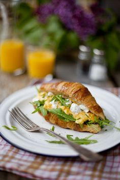 Scrambled Eggs with Goat's Cheese and Rocket | DonalSkehan.com | HomeCooked Kitchen Blog