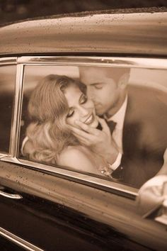 Beautiful sepia photos. I also want to leave the wedding in an older 40s-50s car