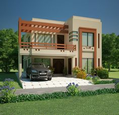 front house design mian wali pakistan home elevation marla