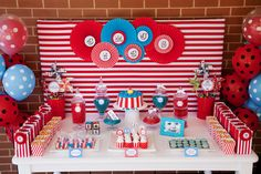 Styling & Printables by Jo Studio www.jostudio.com.au Photography by White Spark Photography. Circus Party , Circus Printables , Jo Studio , Circus , Big Top , Event Styling , Dessert Table , Birthday Party