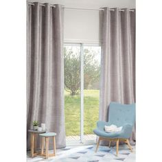Discover Maisons du Monde's [product_name]. Browse a varied range of stylish fabrics to add a unique touch to your home. New Homes, Beige Eyelet Curtains, Curtains Living Room, Living Room, Curtains, Maisons Du Monde, Home, Grey Velvet, Home Decor