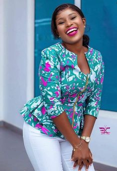 2020 Latest Trending And classy Ankara Long Gowns styles For Every Lady to check stunnig styles in Vogue Short African Dresses, African Blouses, African Tops, Latest African Fashion Dresses, African Print Dresses, African Print Fashion, Ankara Tops Blouses, Ankara Peplum Tops, Ankara Dress