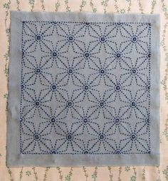 Purl Solo shares this tutorial for a Japanese Sashiko pattern or embroidery project. This Sashiko Japanese project could be used for a cushion cover or cloth work and you can see the full step by s… Sashiko Embroidery, Japanese Embroidery, Cross Stitch Embroidery, Embroidery Patterns, Hand Embroidery, Embroidery Scissors, Embroidery Hoops, Embroidery Dress, Purl Bee