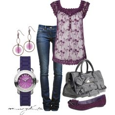 Violet Casual, created by marykate2345 on Polyvore