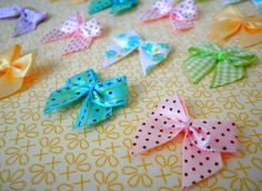 Easter Egg Mix Fabric Mini Bow Charms by KittiesCloset