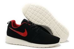 low cost 19c9d d3f50 Nike Roshe Mens Running Wool Skin Black Red Shoes Nike Roshe Run, Roshe Run  Shoes