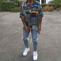 Hipster mens fashion - Men's Hawaiian Style Vintage Printing Loose Shirt Man Street Style, Black Men Street Fashion, Mode Outfits, Casual Outfits, Men Casual, Swag Outfits Men, Mode Streetwear, Streetwear Fashion, Streetwear Summer