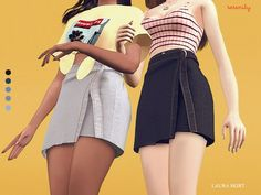 Laura Skirt for The Sims 4 by Serenity School Looks, Vetements Clothing, Sims4 Clothes, Best Sims, Sims 4 Dresses, Sims 4 Characters, Sims 4 Cc Packs, Sims 4 Mm, The Sims 4 Download