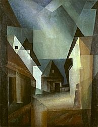 Lyonel Feininger, American, b. New York Gaberndorf II, The Nelson-Atkins Museum of Art Cubist Paintings, Great Paintings, Beautiful Paintings, Expressionist Artists, Painting Collage, Art Reproductions, Online Art Gallery, Art Museum, Drawing