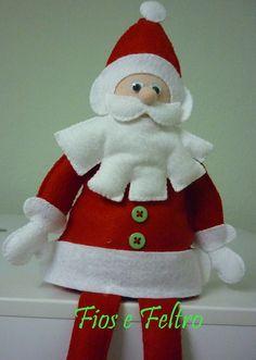 Papá Noel de fieltro