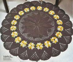 Maria Chike: Tapete Redondo com Flores Girassol