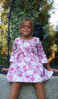 Vestido Tablas, estampado Cisne - La Princesa de Condor en Erizzos Marketplace de tiendas para niños de 0 a 14 años