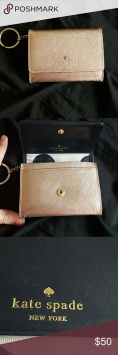 Kate spade wallet Super cute gold kate spade wallet. Re posh. I need a bigger wallet for all my junk so this wont work for me. kate spade Bags Wallets