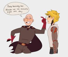 Villain for Fun ||| Dark!Saitama and Genos ||| One Punch Man AU Fan Art by sugarandmemories on Tumblr