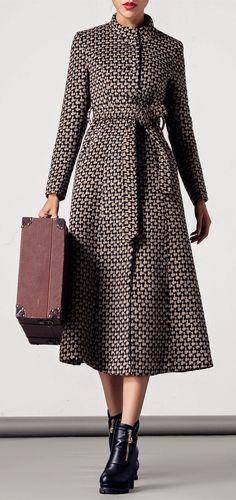 Vintage Belted Maxi Coat