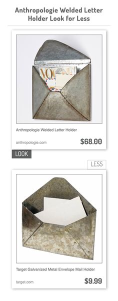 1000 images about decorpad look for less on pinterest for Galvanized letter holder