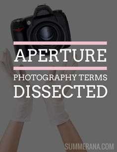 Aperture - Photography Terms Dissected  Read more here: http://summerana.com/aperture-photography-terms-dissected/