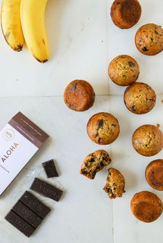 Steel cut oats are the perfect base for a hearty vegan banana muffin studded with dark chocolate chunks!