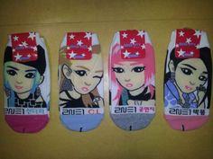 2NE1-4-pairs-of-socks-YG-crush-lonely-bigbang-home-exo-sm-idol-kpop