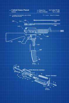 Zombie Army, Homemade Weapons, Gun Art, Patent Drawing, Photo Printer, Patent Prints, Military Art, Firearms, Poster Prints