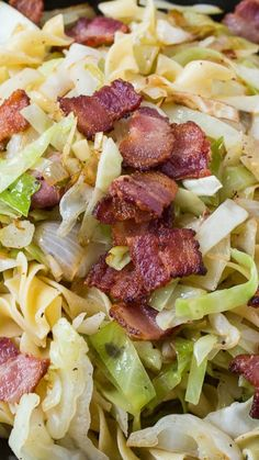 Cabbage and Noodles Recipe ~ a delicious comfort meal