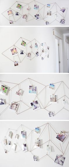 DIY: geometric photo display