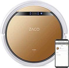 Amazon.de: ZACO V5x Saugroboter mit Wischfunktion, App & Alexa Steuerung, 8, 1cm flach, automatischer Roboter, 2in1 Wischen oder Staubsaugen, für Hartböden, Fallschutz, mit Ladestation, Mit Wlan, 22 W, 65 Dezibel Best Sellers, App, Amazon, Gadgets, Water Tank, Wi Fi, Remote, Amazons, Riding Habit