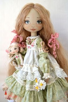Simple Fabric Crafts You Can Make From Scraps - Diy Crafts Doll Toys, Baby Dolls, Porcelain Dolls Value, All Things Cute, Soft Dolls, Soft Sculpture, Fabric Dolls, Doll Face, Doll Patterns