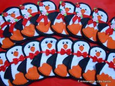 Porta talheres Casal de Pinguins by Litta Santos