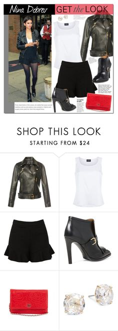 """""""Nina Dobrev"""" by mery90 ❤ liked on Polyvore featuring Elie Saab, St. John, Sans Souci, Ralph Lauren, Chanel, Kate Spade, GetTheLook, StreetStyle and CelebrityStyle"""