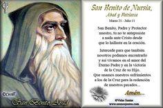 SANTORAL CATOLICO: Oraciones a San Benito de Nursia