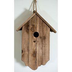 Rustic birdhouse, love this.