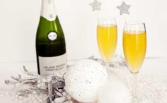 Starlight Sparkler Champagne Cocktail 1/2 ounce amaretto 1 1/2 ounces apricot juice 4 ounces chilled champagne
